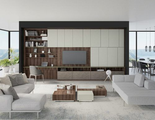 Meuble TV haut de gamme créé à montréal par ADN Design