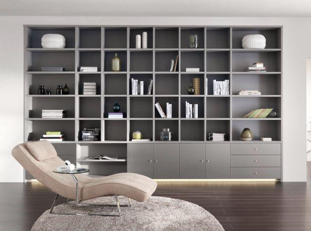 Bibliothèque sur mesure construite par ADN Design