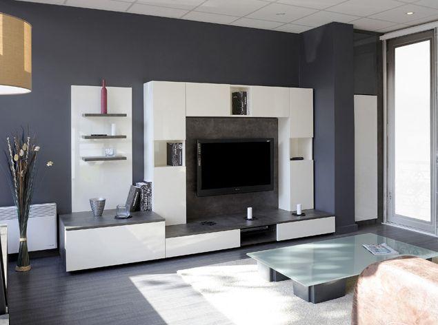 Salon avec meuble tv sur mesure